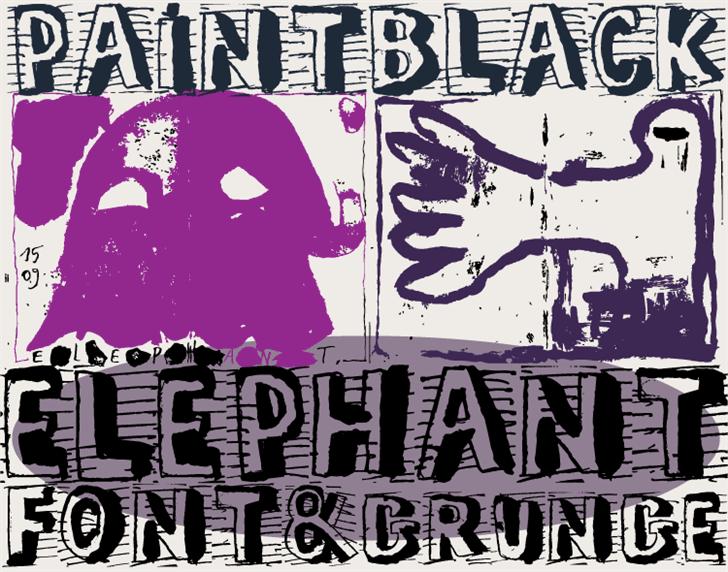 ELEPHANT Font text poster