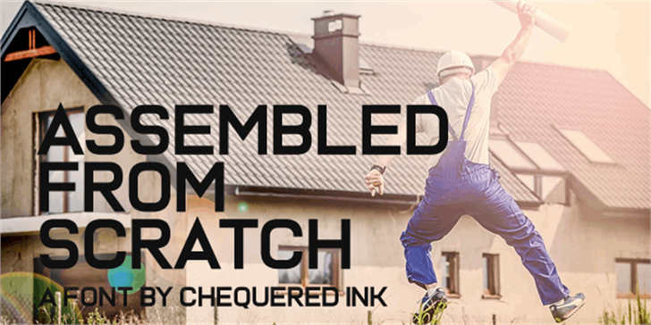 Assembled From Scratch font by Chequered Ink