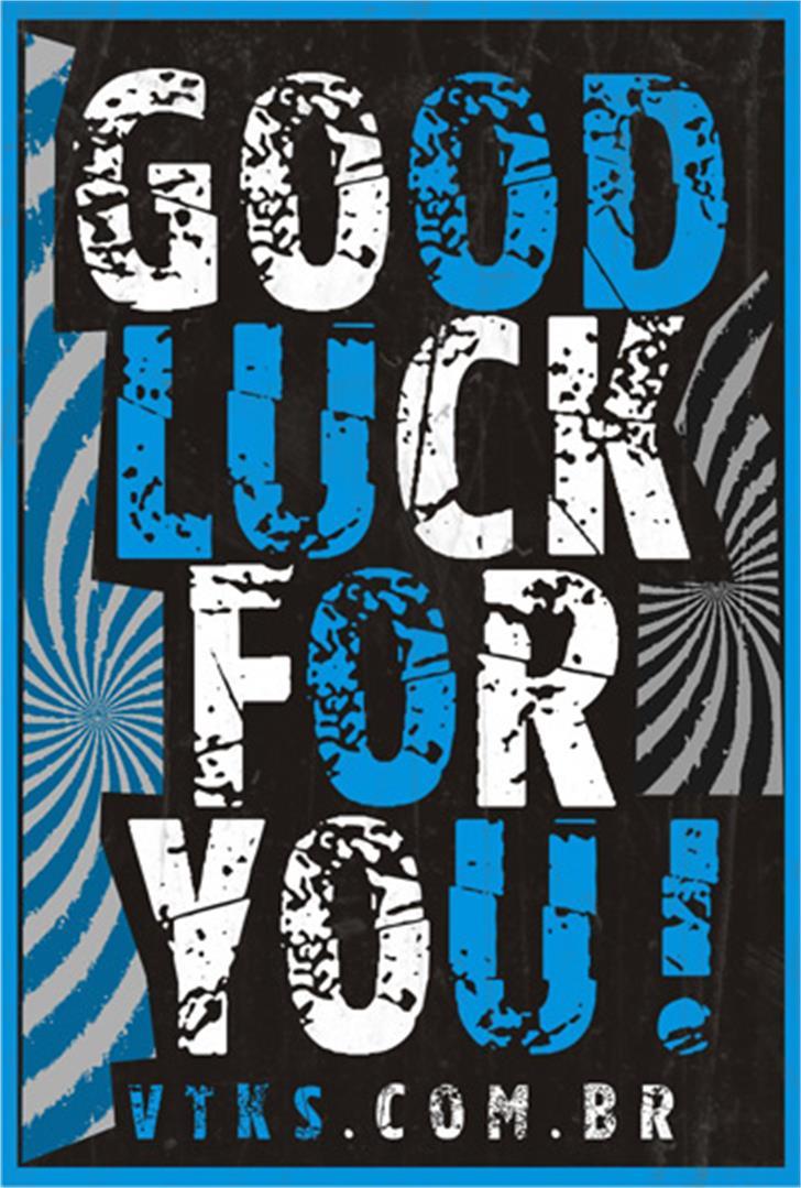 Vtks good luck for you Font cartoon poster