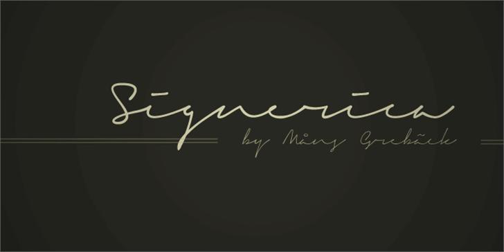 Signerica Fat font by Måns Grebäck