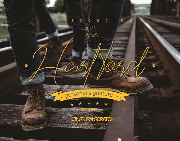Hartford Font footwear handwriting