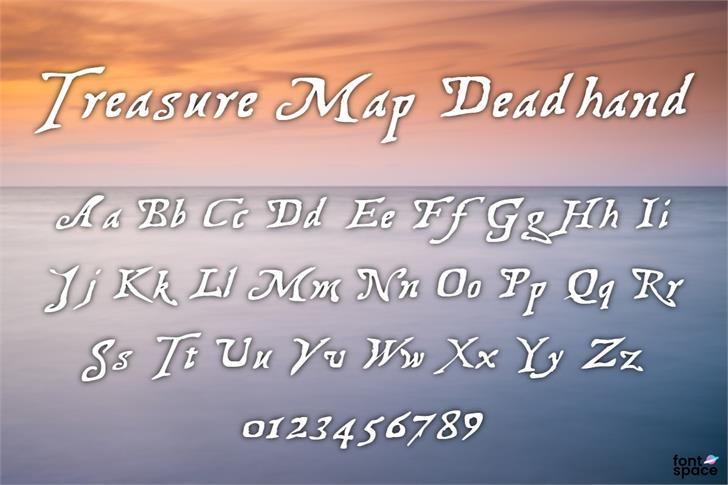 Treasure Map Deadhand Font poster