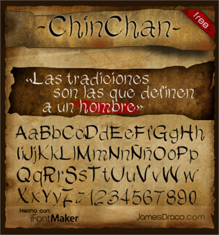 ChinChan Font text