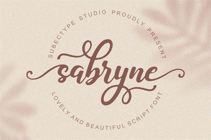 Sabryne Font poster