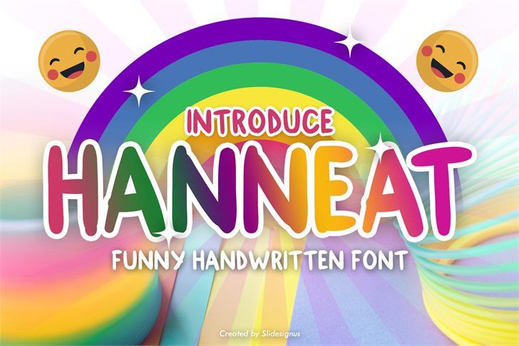 Hanneat Demo Font screenshot