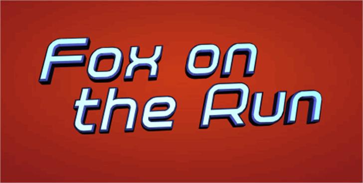 Fox on the Run Font red orange