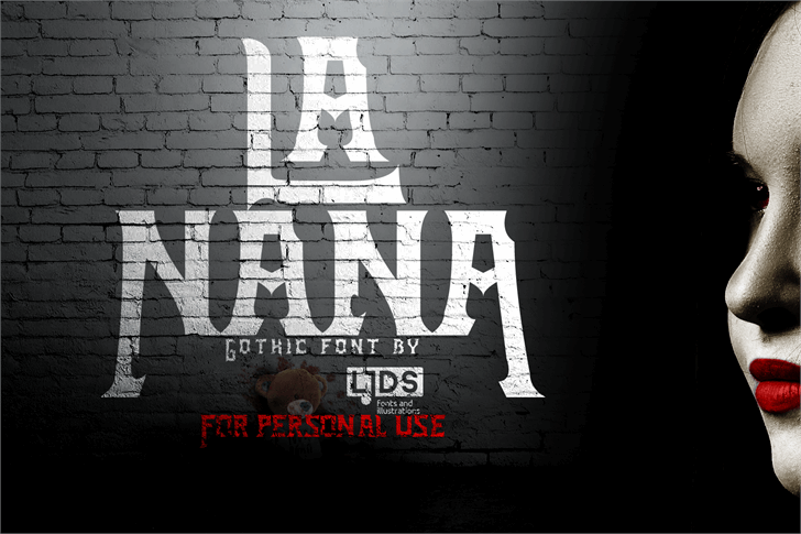 La Nana DEMO Font poster text