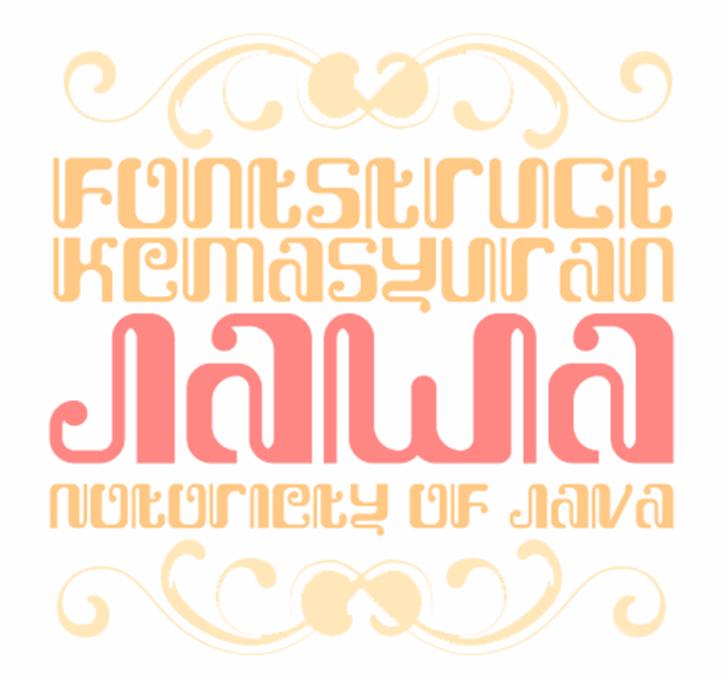 Kemasyuran Jawa Font typography design