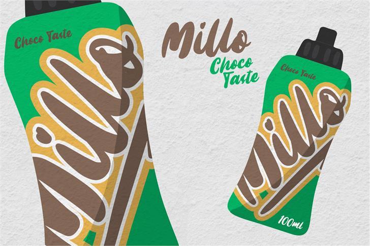 Millo Font cartoon design