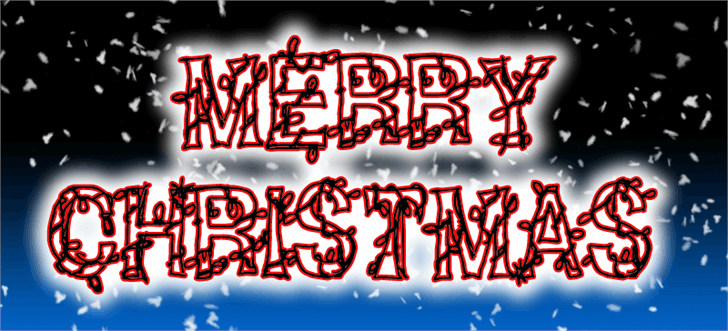 CF Christmas Shit Font art