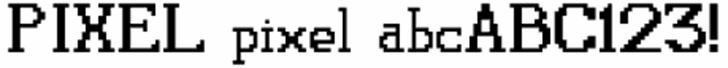 Pixel font by Glyphobet Font Foundry