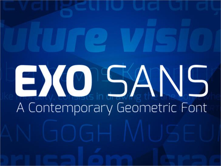 Exo font by Natanael Gama