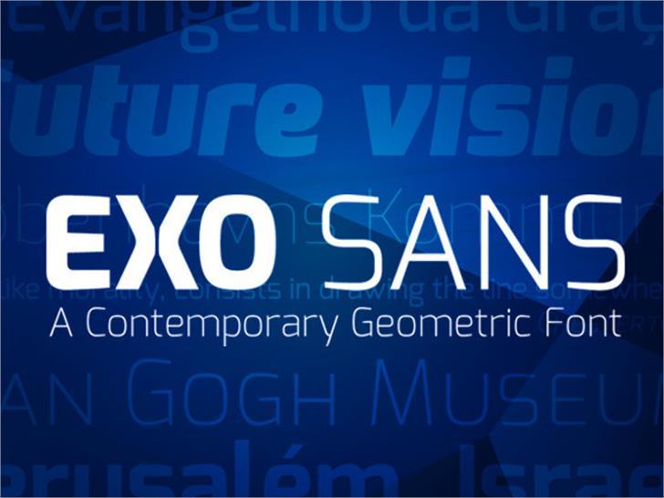 Exo Font screenshot bottle