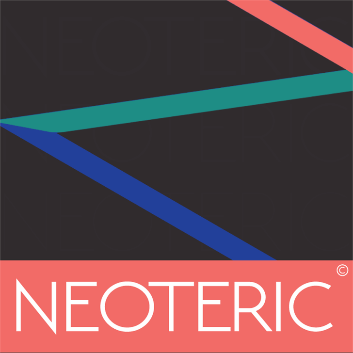 NEOTERIC Font screenshot design