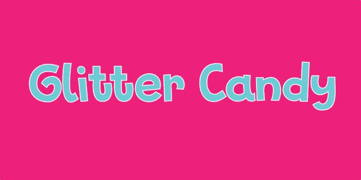 Glitter Candy DEMO Font magenta pink