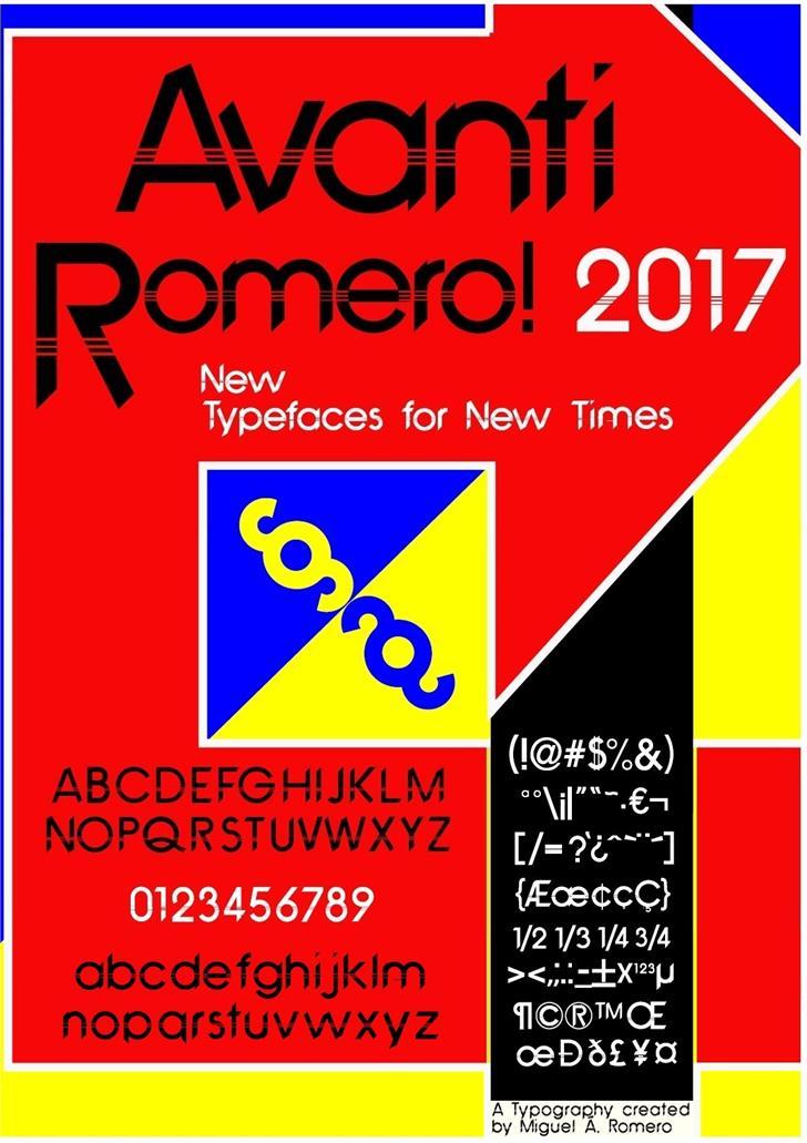 Avanti Romero Font graphic design