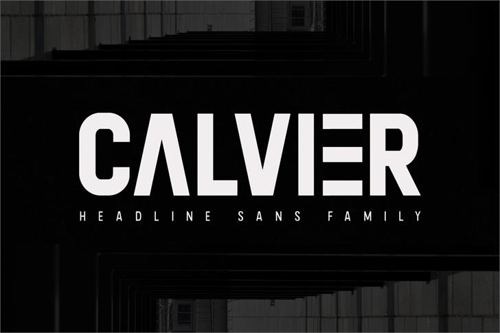 Calvier Font screenshot sign