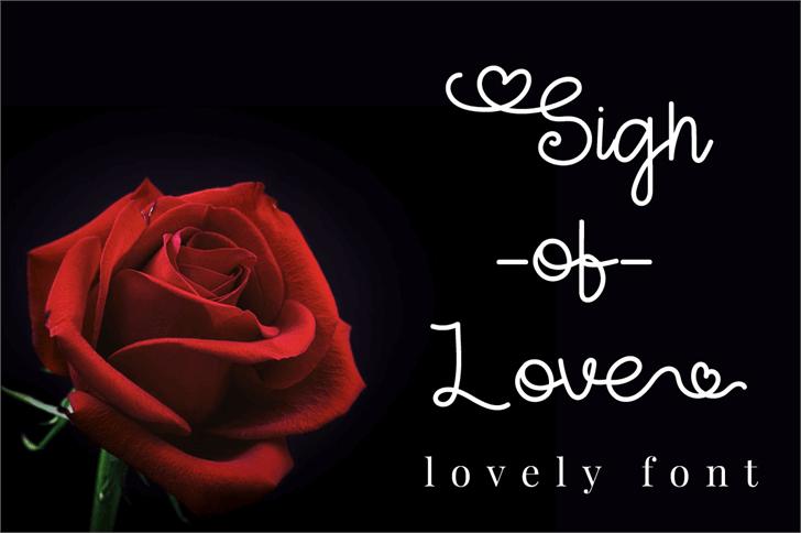 Sign Of Love Font flower rose