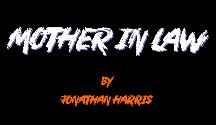 Mother In Law Font design text