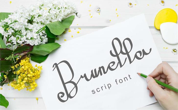 Brunella Font poster
