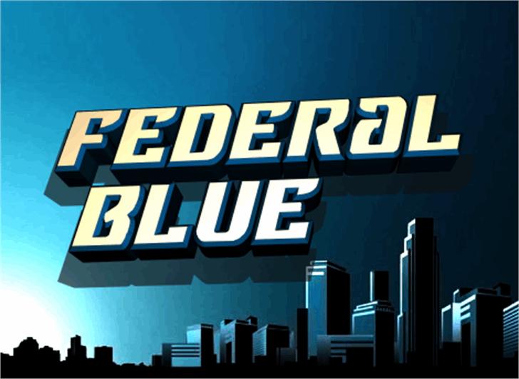 Federal Blue Font text