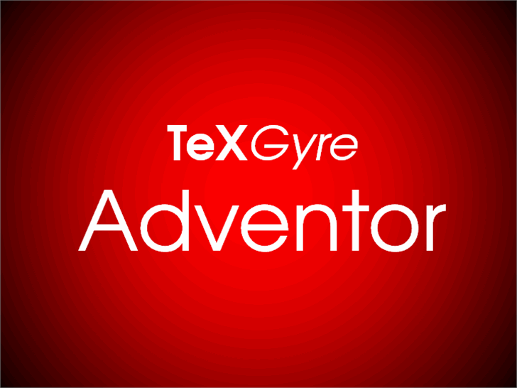 TeXGyreAdventor font by GUST e-foundry