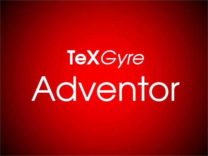 TeXGyreAdventor Font design screenshot