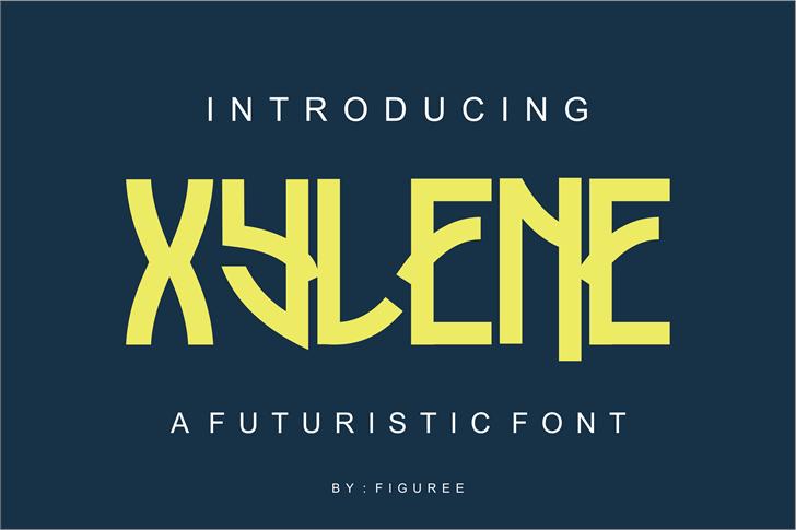 Xylene Font screenshot design
