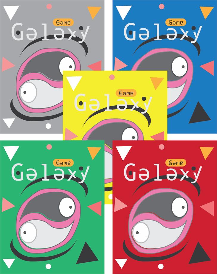 space galaxy Font cartoon design