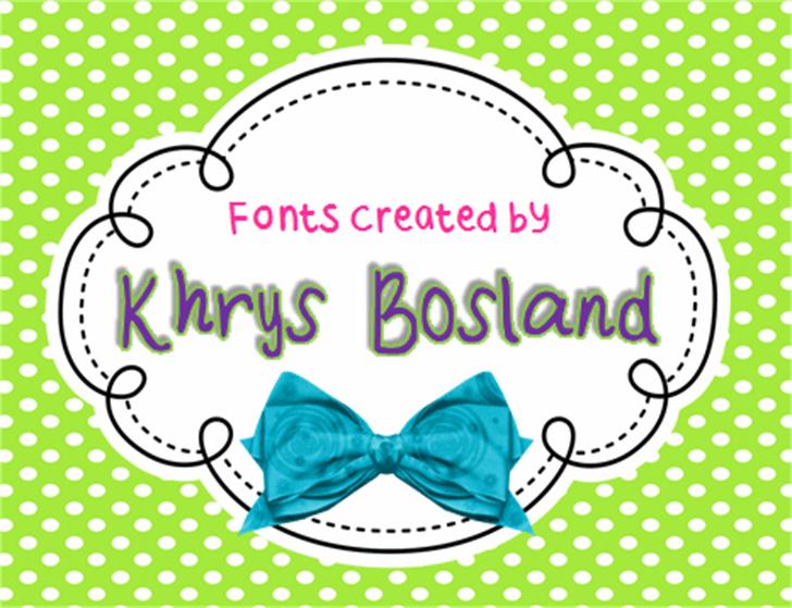KBFancyMe Font cartoon envelope