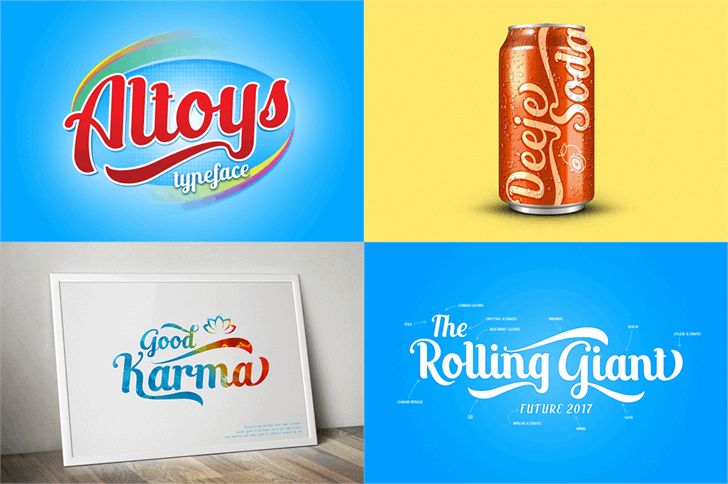 Altoys just personal only font by Alit Design
