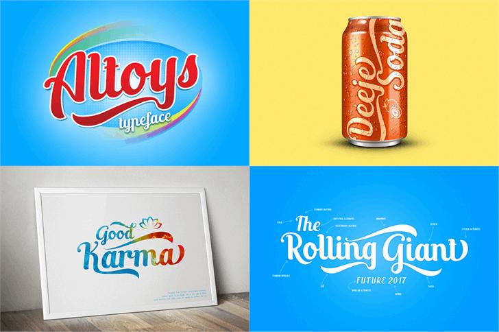 Altoys just personal only Font design bottle