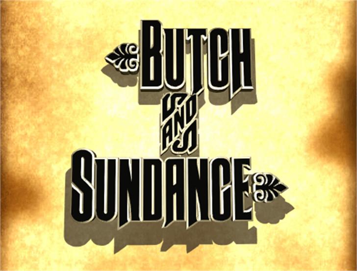 Butch & Sundance Font poster book