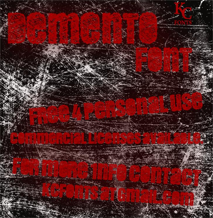 DEMENTO font by KC Fonts