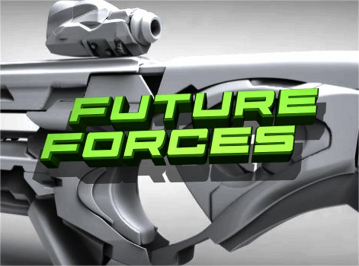 Future Forces Font screenshot cartoon