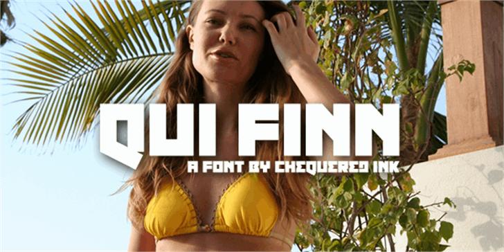 Qui Finn Font screenshot human face