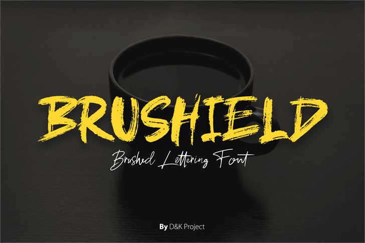 brushield Font text