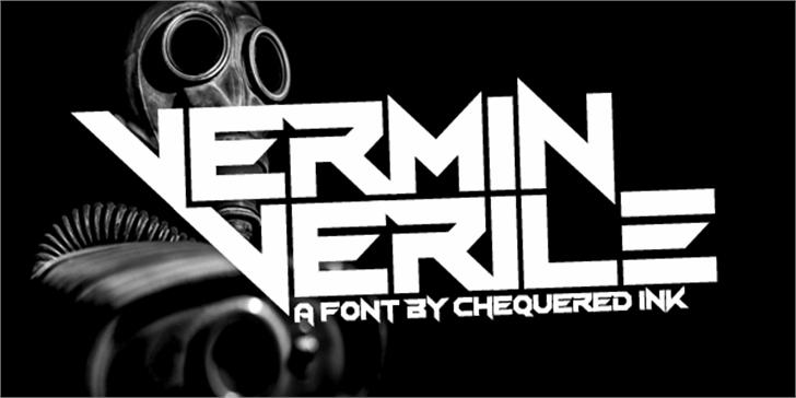 Vermin Verile Font design graphic