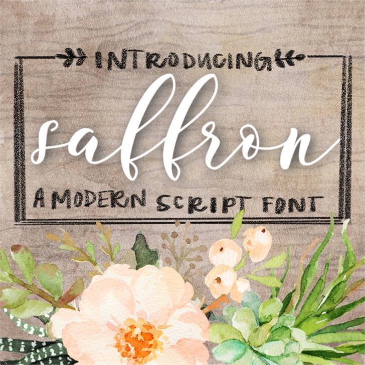 Saffron Font text book