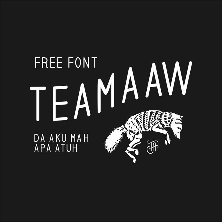 teamaaw Font animal design