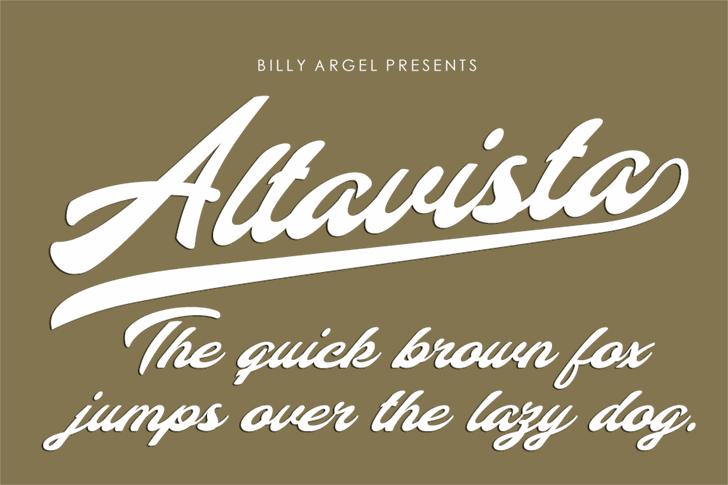 Altavista Personal Use font by Billy Argel