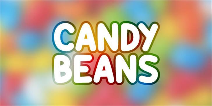 Candy Beans Font poster design