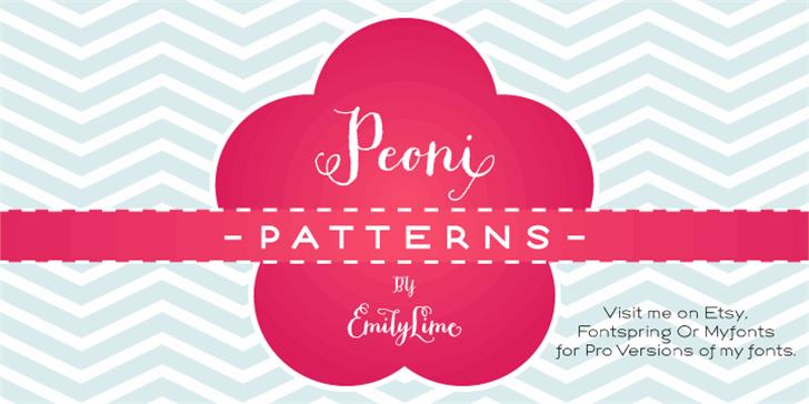 Peoni Patterns Font design graphic