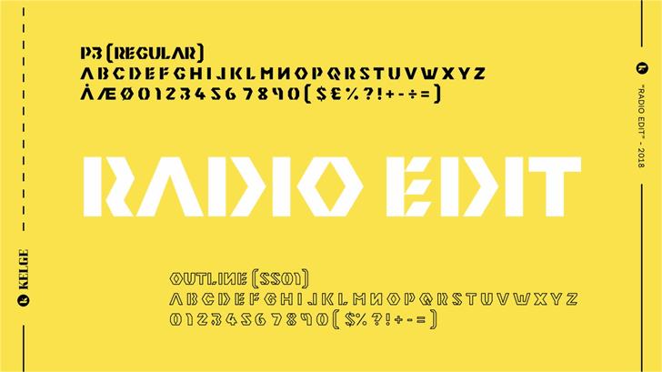 Radio Edit Font design font