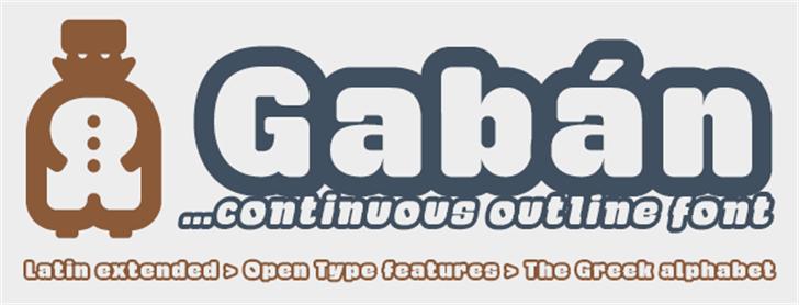 Gaban Font poster font