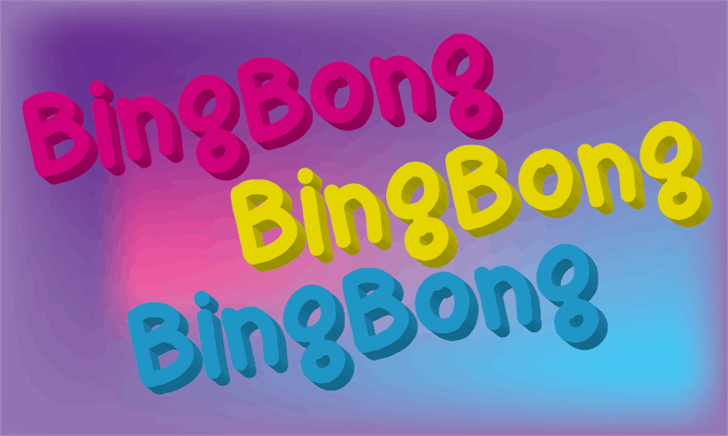 bingbong Font screenshot magenta