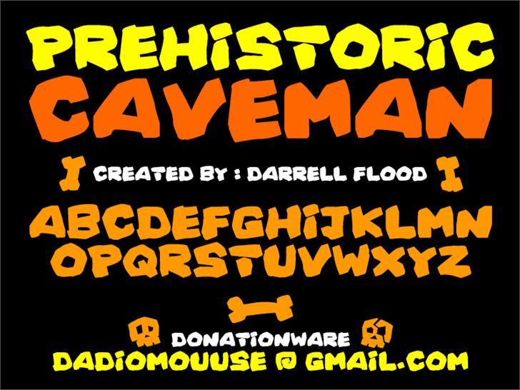 Prehistoric Caveman Font poster text
