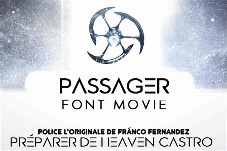 Passager Font design graphic