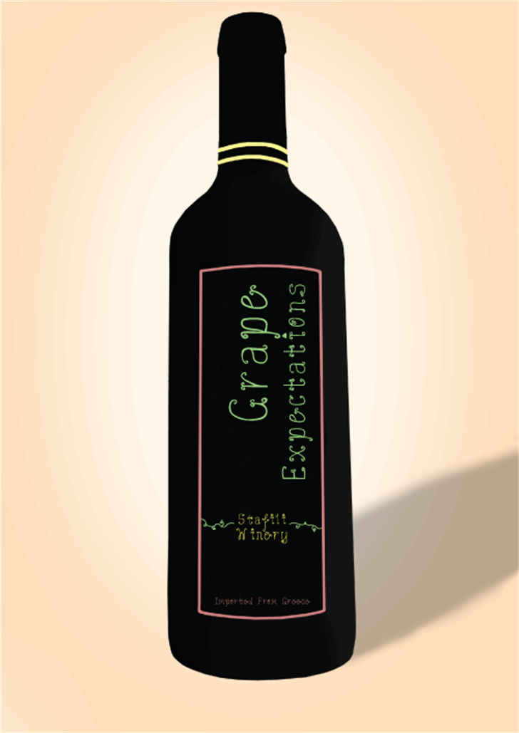 Grape Expectations Font drink wine