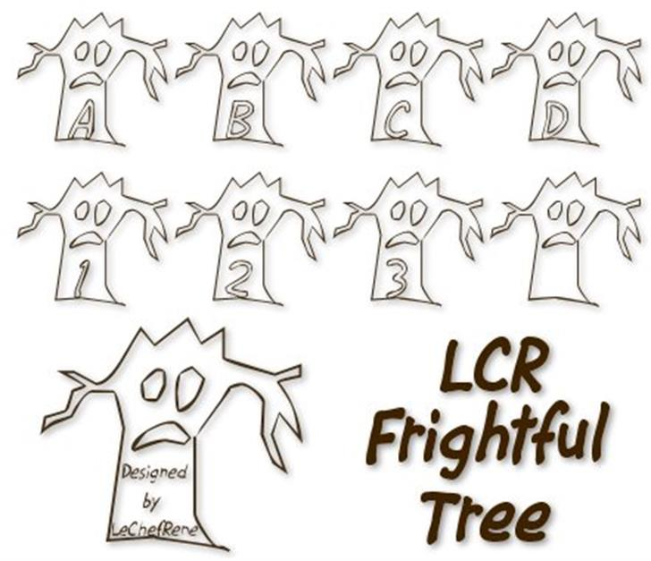 LCR Firghtful Tree Font drawing text